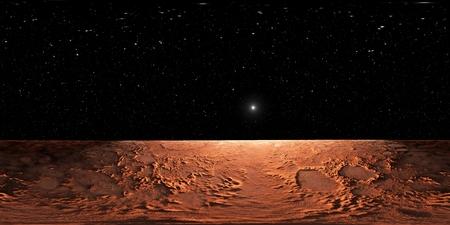 360 Equirektanguläre Projektion des Mars, HDRI-Umgebungskarte. Kugelpanorama. 3D-Darstellung