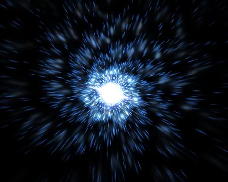 Time warp, traveling in space. Time dilation, illustration Banque d'images - 118553093