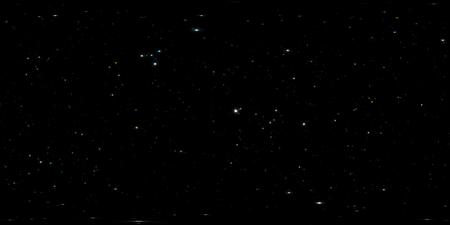 360-Grad-Raumhintergrund mit Sternenpanorama, gleicheckiger Projektion, Umgebungskarte. HDRI-Kugelpanorama. Nacht Sternenhimmel Hintergrund. 3D-Darstellung