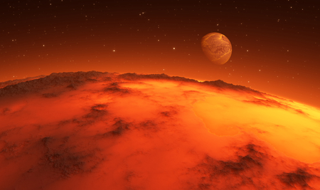 Early stages of planet formation. 3d illustration