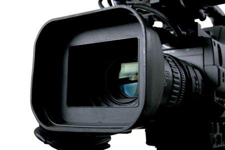 l'obiettivo e di controllo da parte di saltimbanchi nero camcorder DV Archivio Fotografico