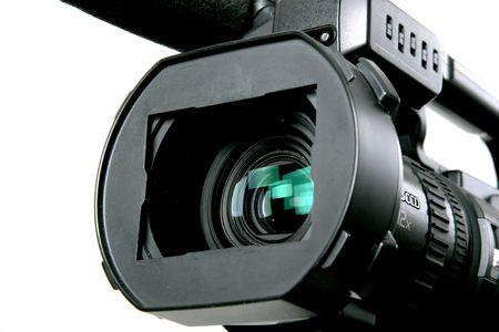the lens part of black mini-dv camcorder