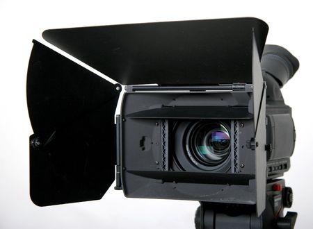 nero ad alta definizione con la videocamera compendio sul treppiede Archivio Fotografico