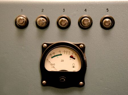 the sound control monitor of retro cinema projector made in USSR photo