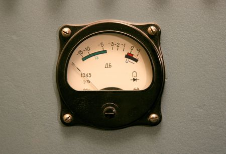 decibel: the sound control monitor of retro cinema projector made in USSR
