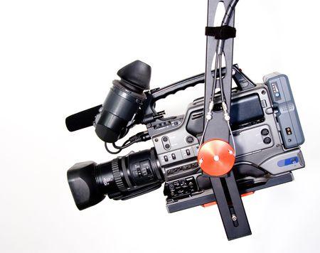 dv camcorder on the handly operator crane photo