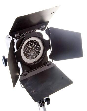 la macchia nera professinal sorgente di luce su sfondo bianco