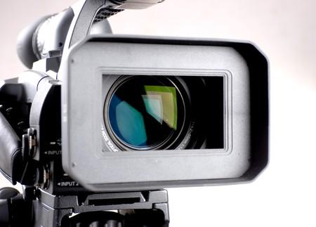 close-up di lenti ad alta definizione fotocamera registratore Archivio Fotografico