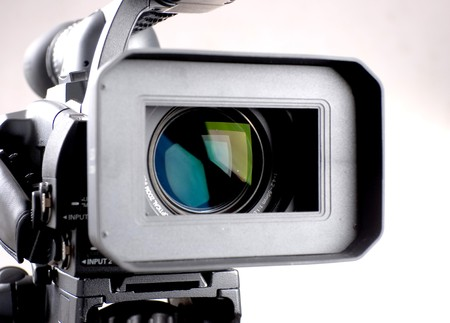 close-up lens of high definition camera recorder