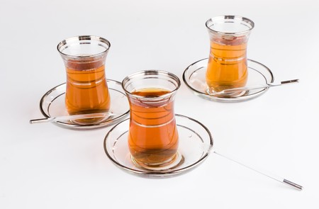 a three glasses of Turkish traditional tea Stock Photo - 4363876