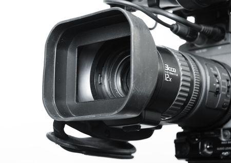 close-up lens part of digital video camera recorder Stock Photo