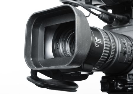 close-up lens part of digital video camera recorder Stock Photo