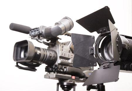 lihgt fonte con standard otto foglia fienile porta dv-cam e fotocamera Archivio Fotografico
