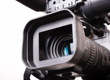 close-up lens part of dv-cam camera recorder Stock Photo