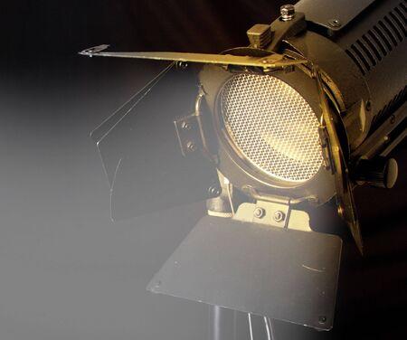 close-up unica fonte di luce con il fienile e la piena porte scrim Archivio Fotografico