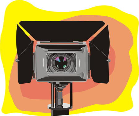 art illustration of stand high-definition video camera Stock Vector - 6023494