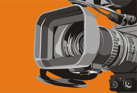 art illustration of close-up tv camcorder