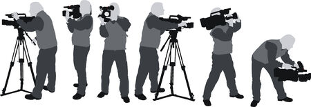 cameramen silhouttes