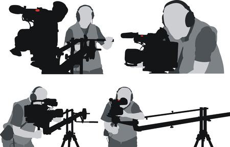 filming: silhouttes of cameramen