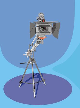 hd camcorder on crane in studio Stock Vector - 9120883
