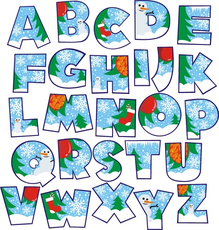 Christmas alphabet Stock Vector - 11299442