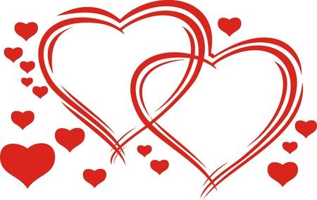 cuore disegno a mano di San Valentino su sfondo bianco