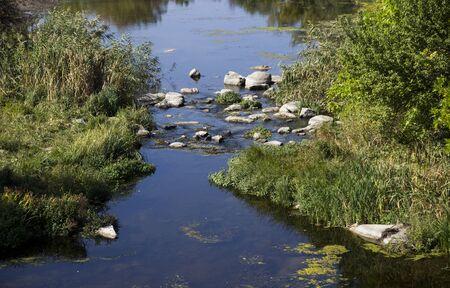 cane creek: the small still hush river Stock Photo
