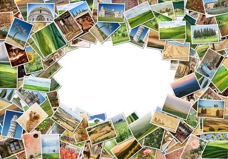 Viele verschiedene Bilder von der Toskana Standard-Bild