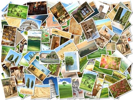 photo montage: Many different images of Tuscany