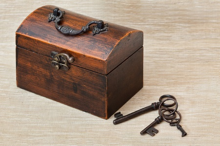 old key: The old trunk with the key
