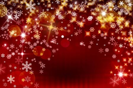 Background of snowflake and stars Stock Photo - 12852510