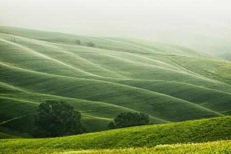 Landelijk platteland landschap in Toscane regio van Italië