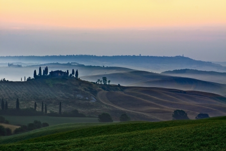 Rural countryside landscape in Tuscany region of Italy Stock Photo - 12851756