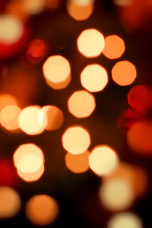 Abstract background of christmas orange lights Stock Photo - 12853695