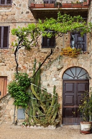 italian village: Beautiful picturesque nook of rural Tuscany Stock Photo