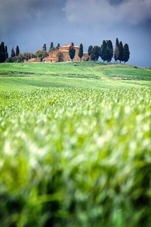 Scenic view of typical Tuscany landscape photo