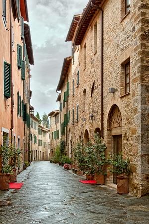 italy street: Montalcino - Picturesque nook of Tuscany