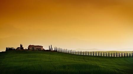 Rural countryside landscape in Tuscany region of Italy  Reklamní fotografie