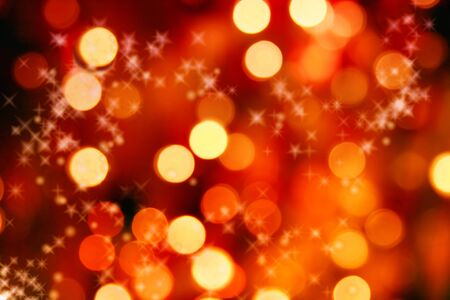 Abstract background of christmas orange lights photo