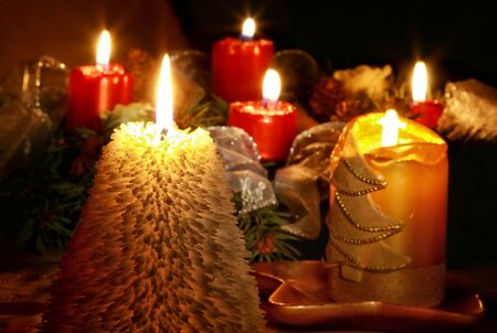 Still life with candlelight for Christmas photo