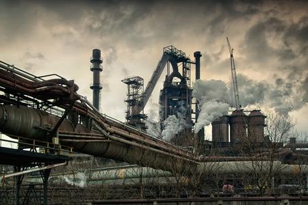 productos quimicos: Obras metal�rgicas de humo. Arquitectura industrial