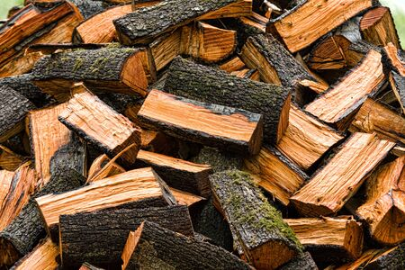 woodpile: Lot of firewood prepared for chimney