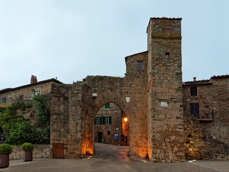 Old castle Montepulciano in Tuscany, Italy Stock Photo - 13225888