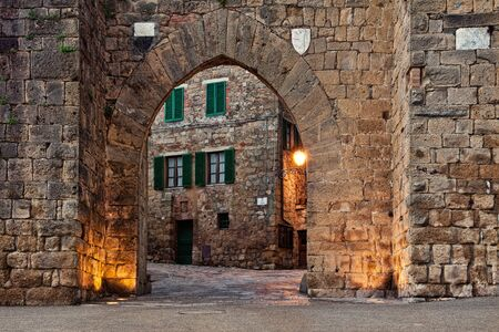 montepulciano: Old castle Montepulciano in Tuscany, Italy Stock Photo