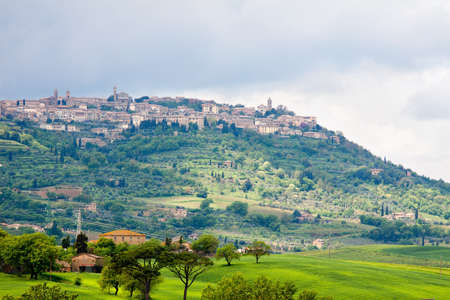montalcino: Montalcino - a view of the beautiful town in Tuscany