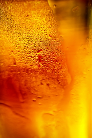 Glass of beer with bubbles  photo