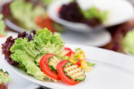 side salad: Fresh vegetable salad - side dishes