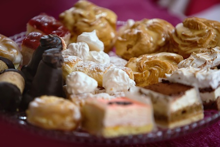 different kinds of desserts on a plate photo