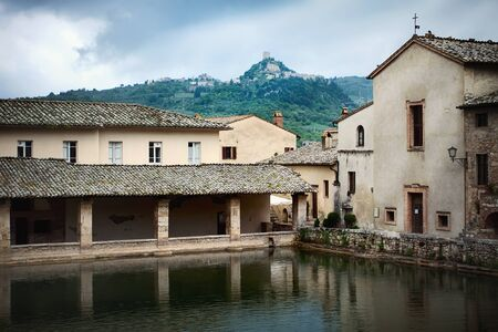 somerset: Ancient Roman thermal  baths in Tuscan town of Bagno Vignoni