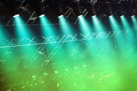 Colorful Stage lights at concert photo